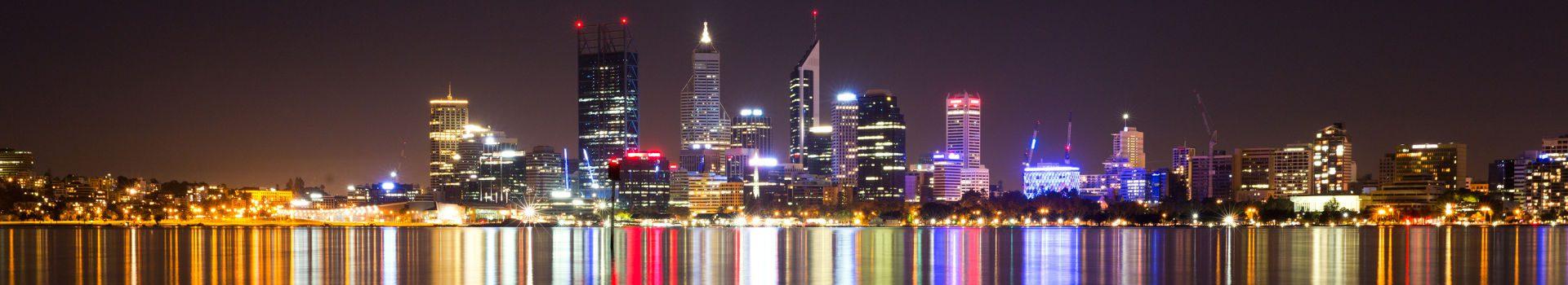Redseason - Holidays - Perth city skyline at night
